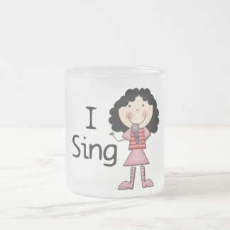 I Sing Female Tshirts and Gifts Frosted Glass Coffee Mug