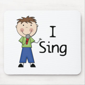 I Sing - Male Tshirts and Gifts Mouse Pad