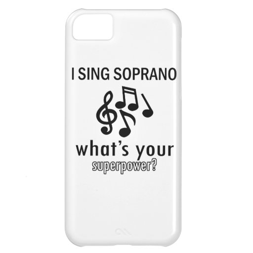 I sing Soprano Cover For iPhone 5C