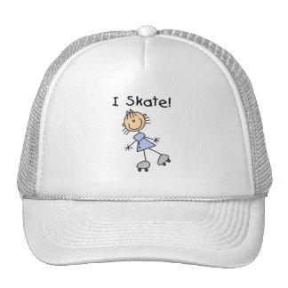 I Skate - Girl Roller Skater Hat