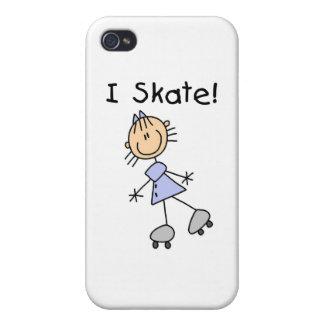 I Skate - Girl Roller Skater iPhone 4/4S Case