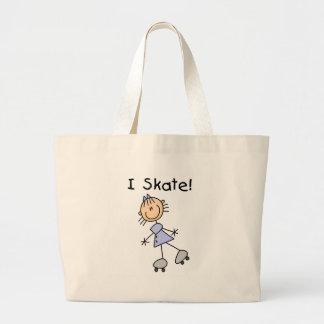 I Skate Stick Figure Girl Bag
