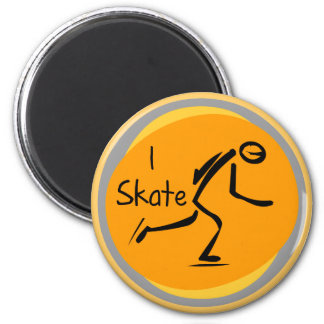 I Skate T-shirts and Gifts 6 Cm Round Magnet