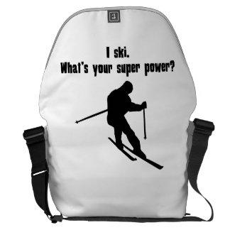 I Ski What s Your Super Power Messenger Bag