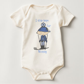 i skip naps for skiing baby bodysuit