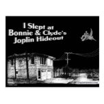 I slept at Bonnie & Clyde's Joplin Hideout Post Card
