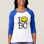 I smile BC women's fitted baseball shirt - royal b