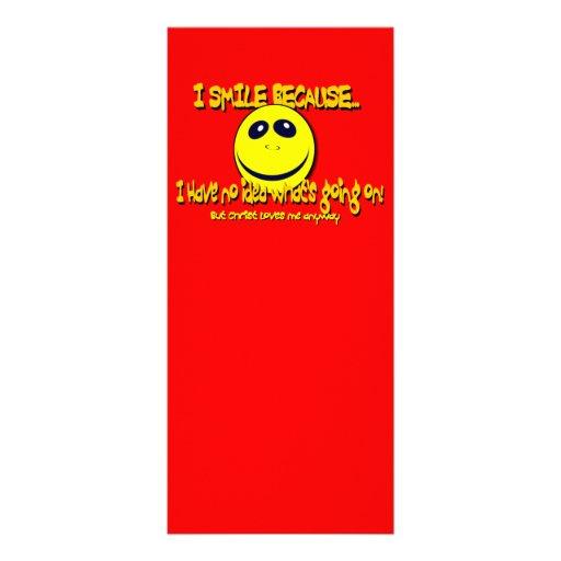 I SMILE BECAUSE...V1 CUSTOMIZED RACK CARD