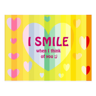 I SMILE WHEN I THINK OF YOU CARD POSTCARD