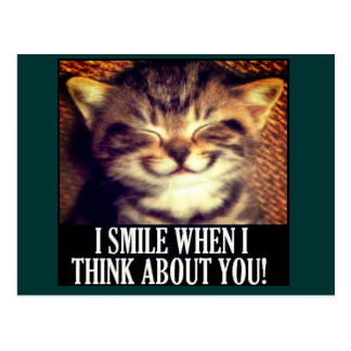 I smile when I think of you Postcard