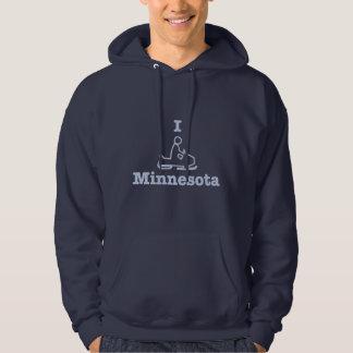 I Snowmobile Minnesota Hoodie