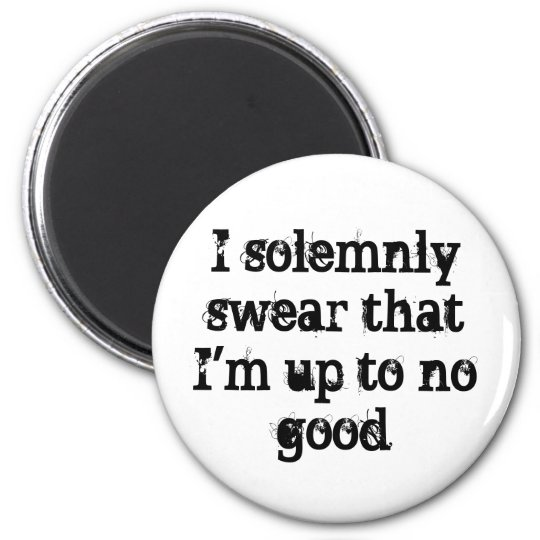 I solemnly swear I'm up to no good