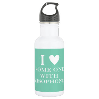 I ♥ Someone with Misophonia Bottle - Teal