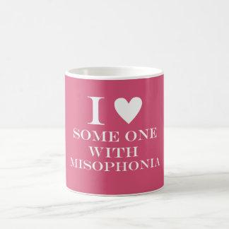I ♥ Someone with Misophonia Mug - Pink