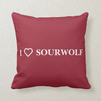 I ♥︎ SOURWOLF (Customizable text and color) Cushions