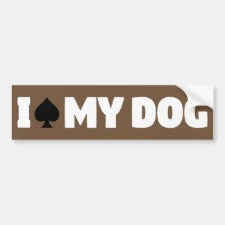 I Spade My Dog (I Spayed My Dog) Bumper Sticker
