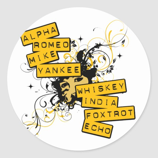 I Speak Army Classic Round Sticker
