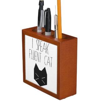I Speak Fluent Cat - Funny Quote Desk Organiser