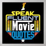 I Speak Fluent Movie Quotes Poster