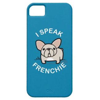 I Speak Frenchie - Blue iPhone 5 Cover