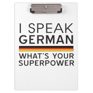I Speak German What's Your Superpower? Clipboard