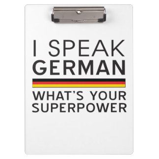 I Speak German What's Your Superpower? Clipboards