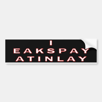 I Speak Latin Bumper Sticker
