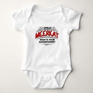 I speak Meerkat Baby Bodysuit