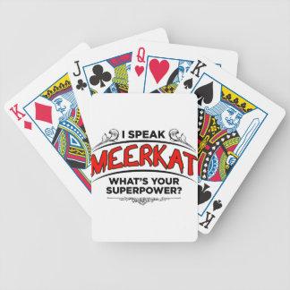 I speak Meerkat Bicycle Playing Cards