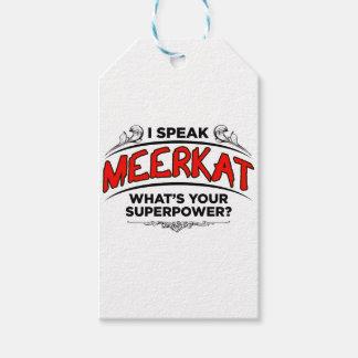 I speak Meerkat Gift Tags