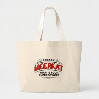I speak Meerkat Large Tote Bag