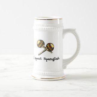 I speak Spanglish Beer Stein
