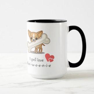 I spell love C-h-i-w-e-e-n-i-e Mug