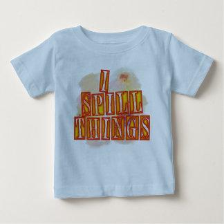I Spill Things baby boys blue humor shirt