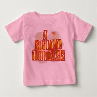 I Spill Things baby girls pink humor shirt