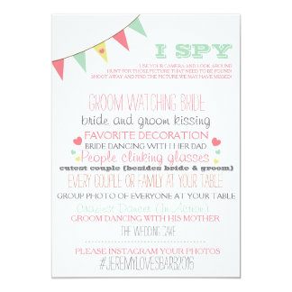 I Spy Wedding Game 13 Cm X 18 Cm Invitation Card