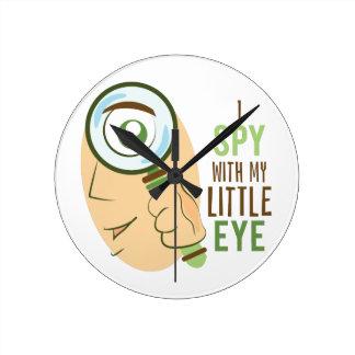 I Spy With My Little Eye Round Clock