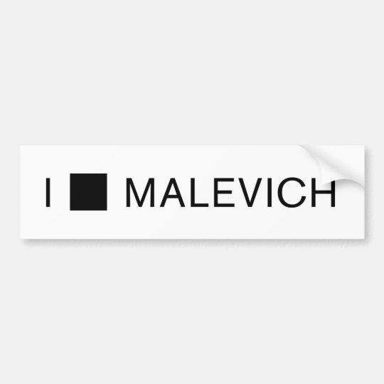 I [SQUARE] MALEVICH BUMPER STICKER