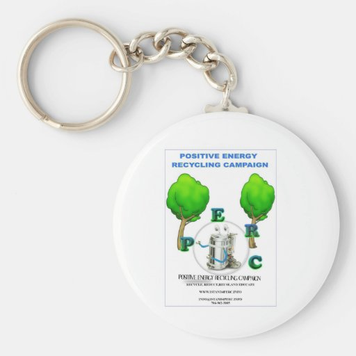 I STAND 4 POSITIVE ENERGY RECYCLING CAMPAIGN KEY CHAINS