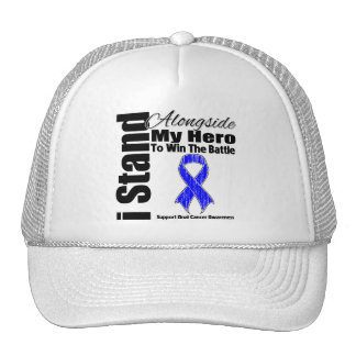 I Stand Alongside My Hero Anal Cancer Mesh Hat
