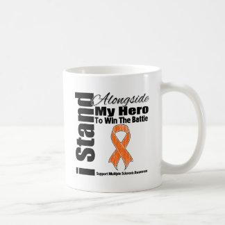 I Stand Alongside My Hero Multiple Sclerosis Basic White Mug