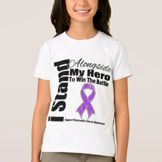 I Stand Alongside My Hero Pancreatic Cancer T-Shirt