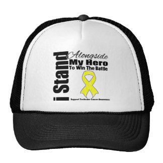 I Stand Alongside My Hero Testicular Cancer Mesh Hat