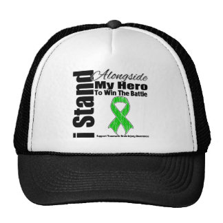 I Stand Alongside My Hero Traumatic Brain Injury Trucker Hat