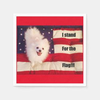 I stand for The flag Napkins Paper Napkin