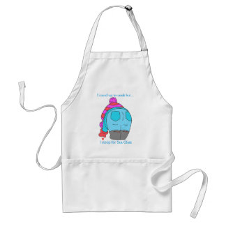 I stand to cook, but i stoop for sea glass standard apron