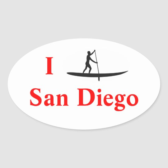 I Stand-Up Paddle Board San Diego Sticker
