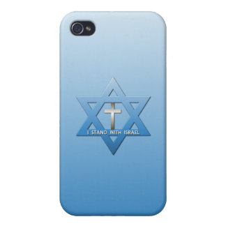 I Stand With Israel Christian Cross Cover For iPhone 4