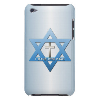 I Stand With Israel Christian Cross Star of David Barely There iPod Covers