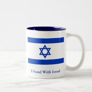 I Stand With Israel Two-Tone Mug